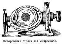 Фёдоровский столик для микроскопа