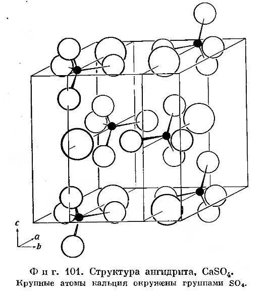 Фиг. 101. Структура ангидрита