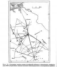 Фиг. 11. Положение пунктов взрыва и профилей глубинного сейсмического зондирования в ФРГ