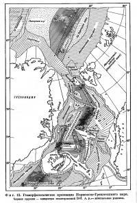 Фиг. 12. Геоморфологические провинции Норвежско-Гренландского моря