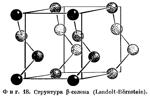Фиг. 18. Структура Р-селена (Landolt-Bornstein)