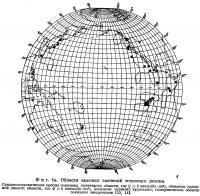 Фиг. 1а. Области высоких значений теплового потока