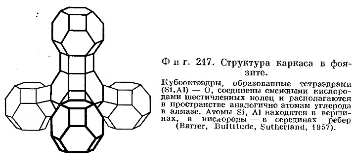 Фиг. 217. Структура каркаса в фоязите