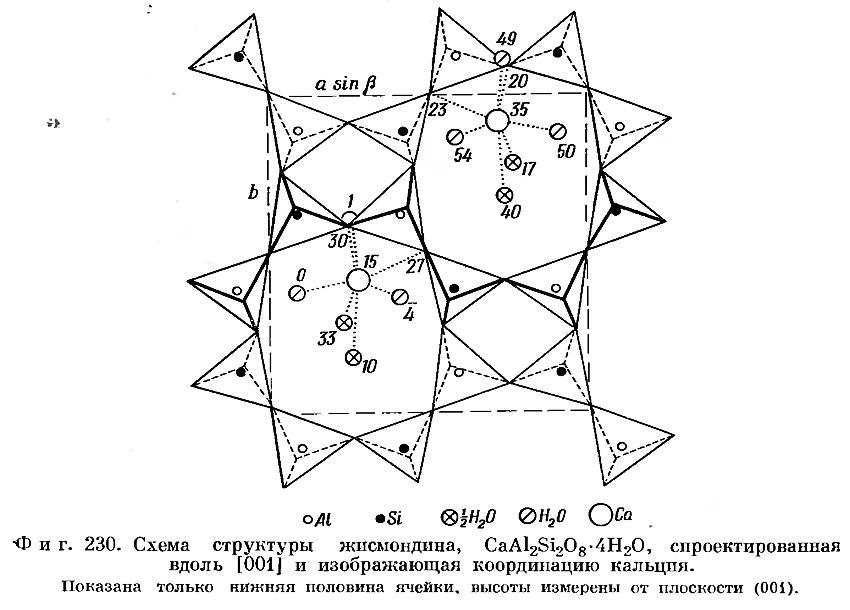 Фиг. 230. Схема структуры жисмондина