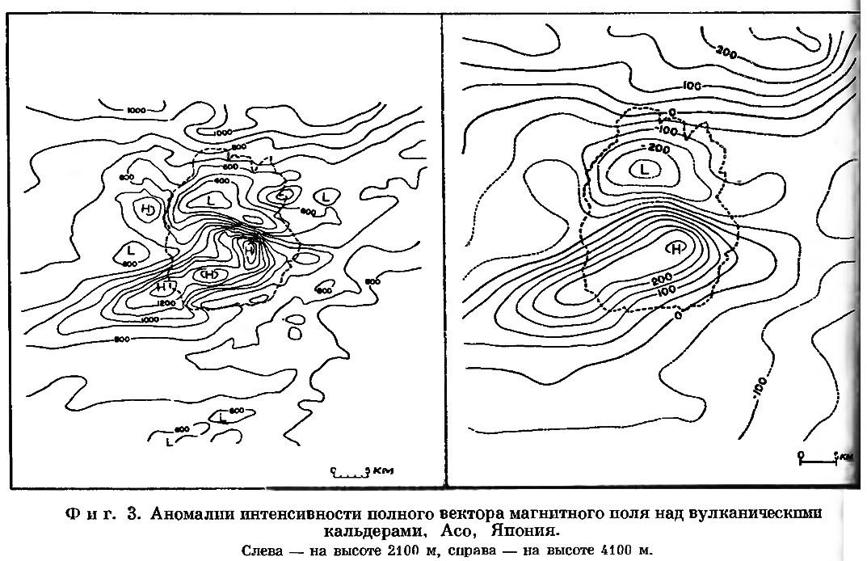 Фиг. 3. Аномалии интенсивности полного вектора магнитного поля