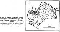 Фиг. 3. Карта аномалий полной магнитной интенсивности над озером Сикоцу