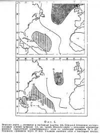 Фиг. 4. Аномалии в свободном воздухе для Северной Атлантики