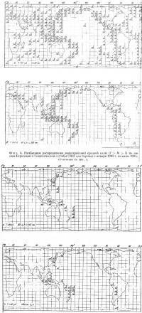 Фиг. 4. Глобальное распределение землетрясений средней силы