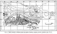 Фиг. 4. Карта аномалий в свободном воздухе для района Гавайских островов