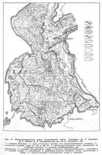 Рис. 10. Палеотектоническая карта позднеюрской эпохи