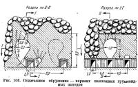Рис. 106. Подэтажное обрушение — вариант наклонных грушевидных ваходок