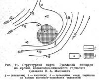 Рис. 11. Структурная карта Гуселской площади