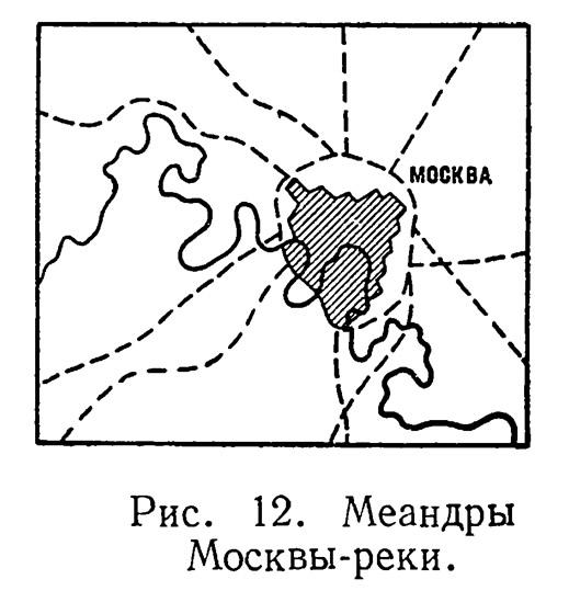 Рис. 12. Меандры Москвы-реки