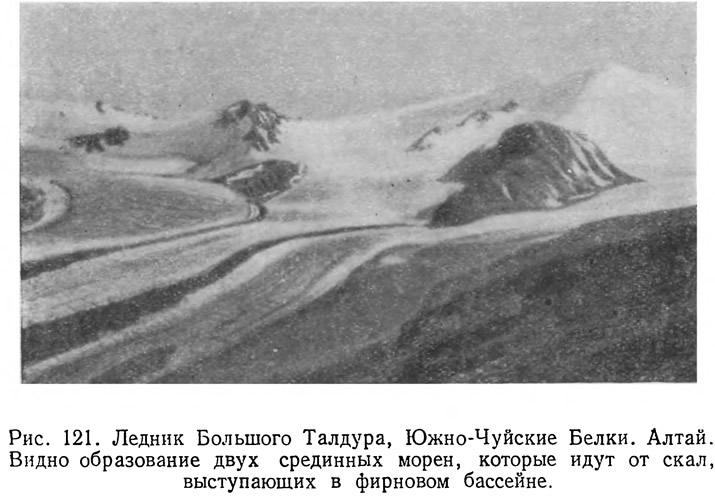 Рис. 121. Ледник Большого Талдура, Южно-Чуйские Белки. Алтай