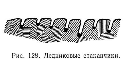 Рис. 128. Ледниковые стаканчики