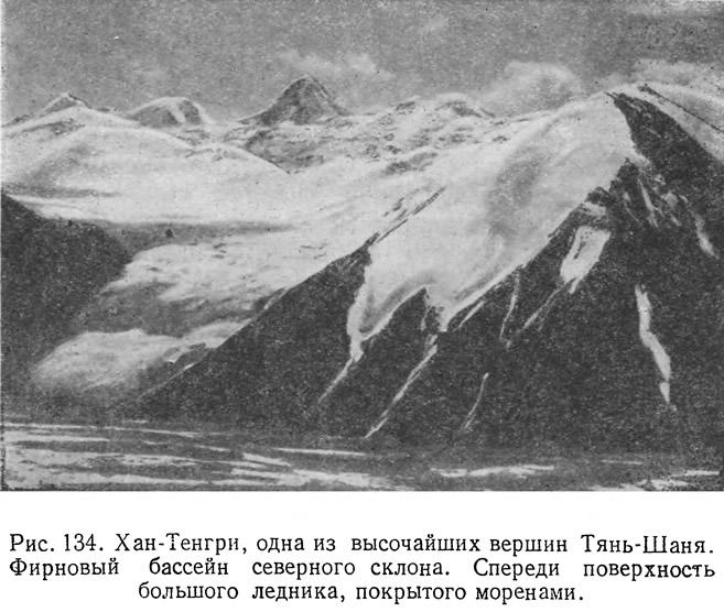 Рис. 134. Хан-Тенгри, одна из высочайших вершин Тянь-Шаня