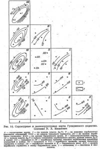 Рис. 14. Структурные и палеоструктурные карты Гусихинского поднятия