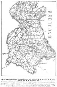 Рис. 15, Палеотектоническая карта барремского века