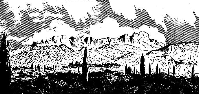 Рис. 15. Тарахташская стена (вид с юга)
