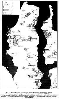 Рис. 1.7. Карта буровой изученности Ямало-Ненецкого автономного округа