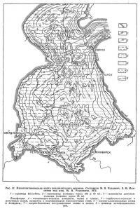Рис. 17. Палеотектоническая карта позднеаптского времени