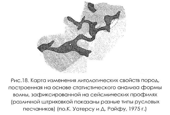 Рис. 18. Карта изменения литологических свойств пород