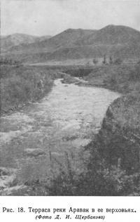 Рис. 18. Терраса реки Араван в ее верховьях