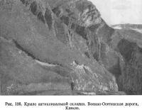 Рис. 186. Крыло антиклинальной складки