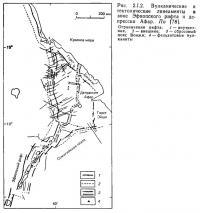 Рис. 2.1.2. Вулканические и тектонические линеаменты в зоне Эфиопского рифта