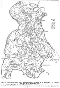 Рис. 25. Палеотектоническая карта эоценовой эпохи