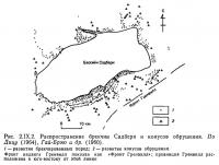 Рис. 2.IX.2. Распространение брекчии Садбери и конусов обрушения