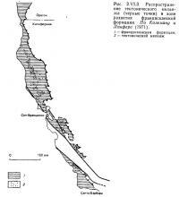 Рис. 2.VI.3. Распространение тектонического меланжа