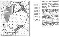 Рис. 2.VII.1. Геологическая карта северо-запада Канадского щита