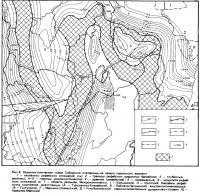 Рис. 3. Палеотектоническая схема Сибирской платформы на начало юдомского времени