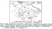 Рис. 3. Схема мощностей подсолевого терригенного комплекса