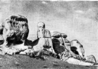 Рис. 30. Формы выветривания нуммулитовых известняков близ Бахчисарая