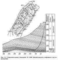 Рис. 3.1. Горизонтальная скважина №1409 Михайловского нефтяного месторождения