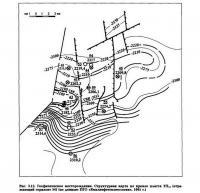Рис. 3.12. Геофизическое месторождение. Структурная карта по кровле пласта ТП14