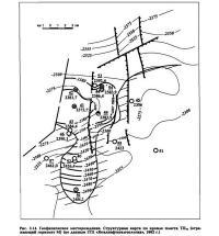 Рис. 3.14. Геофизическое месторождение. Структурная карта по кровле пласта ТП10