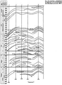 Рис. 3.22. Солетское с Ханавейским месторождение. Геологический разрез