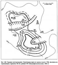 Рис. 3.36. Утреннее месторождение. Структурная карта по кровле пласта ТП18