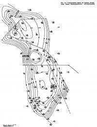Рис. 3.4. Структурная карта по кровле тюменской свиты Новопортовского месторождения
