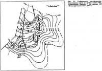 Рис. 3.5. Геофизическое месторождение. Структурная карта по кровле пласта ПК13