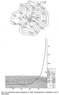 Рис. 3.5. Горизонтальная скважина №4491 Татышлинского нефтяного месторождения