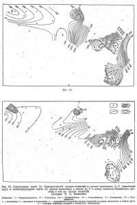 Рис. 35. Структурная карта Присаратовской группы поднятий