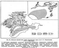 Рис. 36. Литолого-фациальная карта мэотического яруса