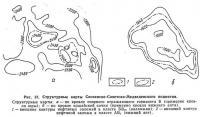 Рис. 37. Структурные карты Соснинско-Советско-Медведевского поднятия