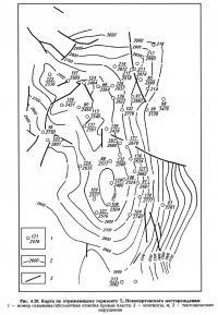 Рис. 4.20. Карта по отражающему горизонту Т4 Новопортовского месторождения