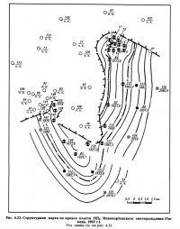 Рис. 4.23. Структурная карта по кровле пласта НП9 Новопортовского месторождения