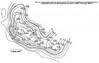 Рис. 4.4. Структурная карта по кровле пласта ТП1 Южно-Тамбейского месторождения